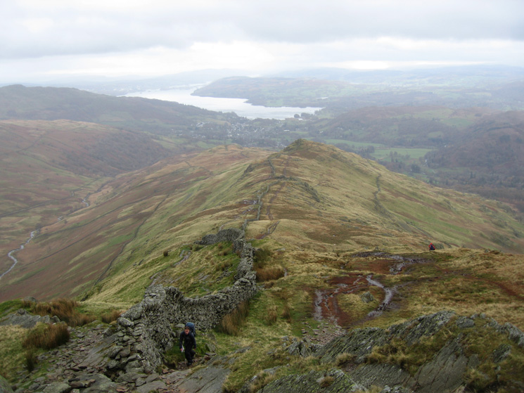 Looking down on Low Pike from High Pike