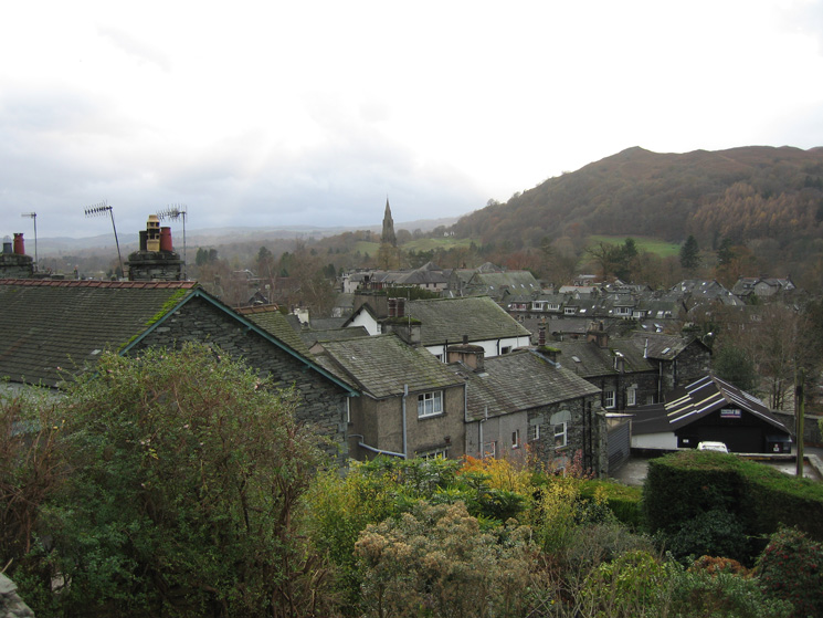 The roof tops of Ambleside