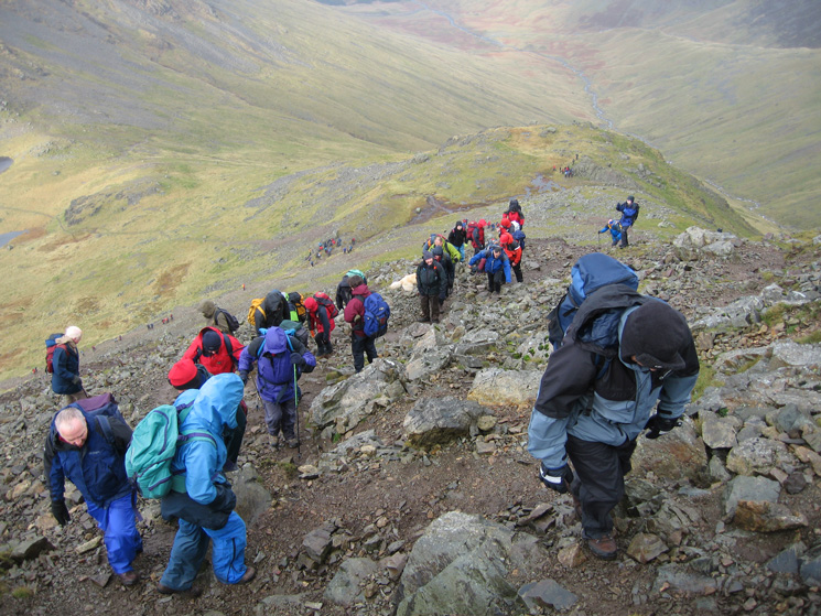 Ascending Great Gable from Beck Head, not much chance of getting lost!