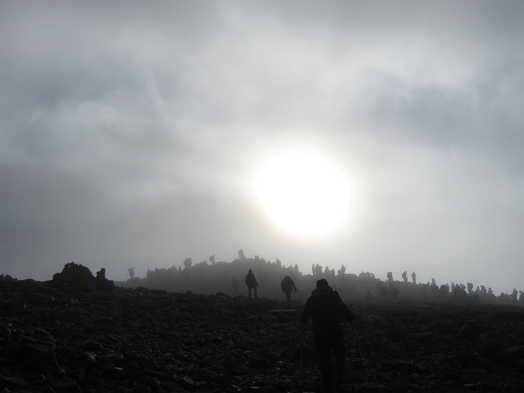 Approaching Great Gable's summit with 20 minutes to spare before the Remembrance Day Service starts