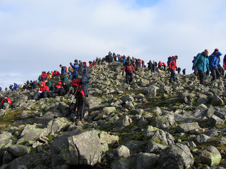 ...but there are still lots of people at the summit