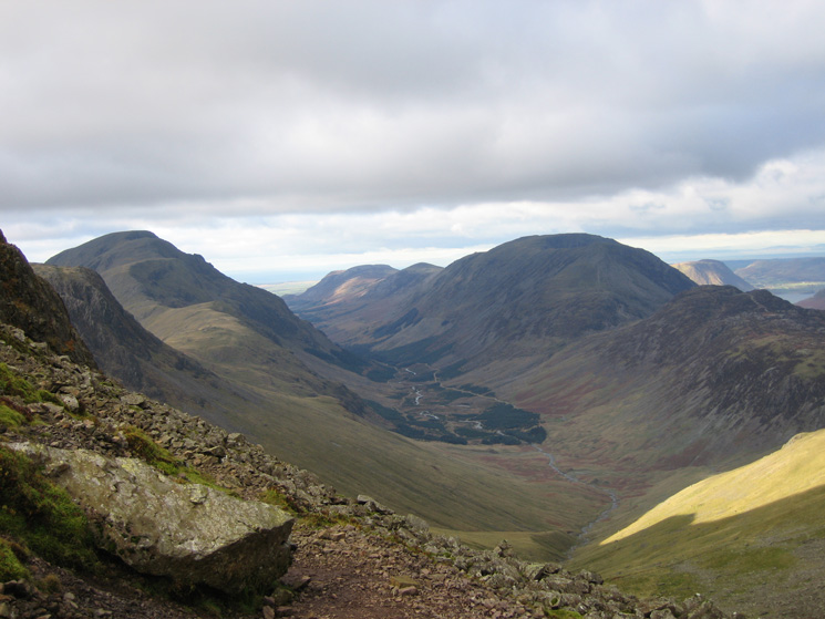 Ennerdale with Pillar on the left and the High Stile ridge on the right from Windy Gap