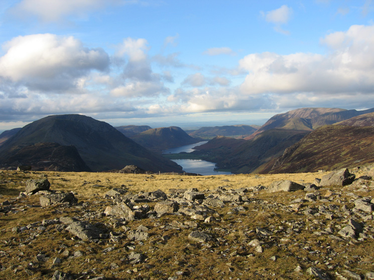 The Buttermere valley from Brandreth