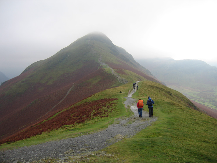 Heading along Skelgill Bank towards Catbells