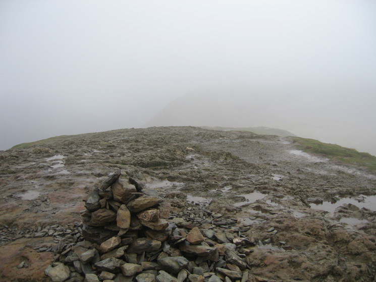 Catbells summit, it does not normally have a cairn