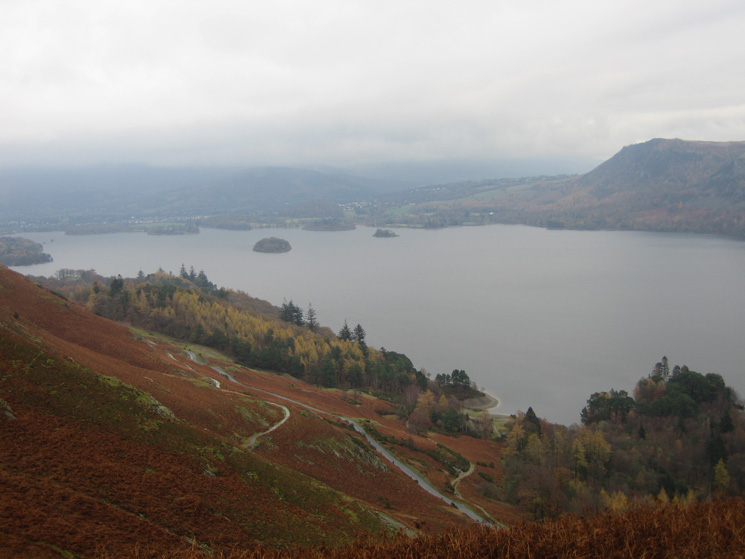Derwent Water from my descent from Hause Gate