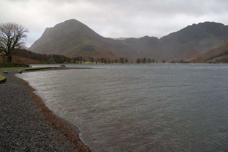 Fleetwith Pike, Green Crag and Haystacks from near Hassness