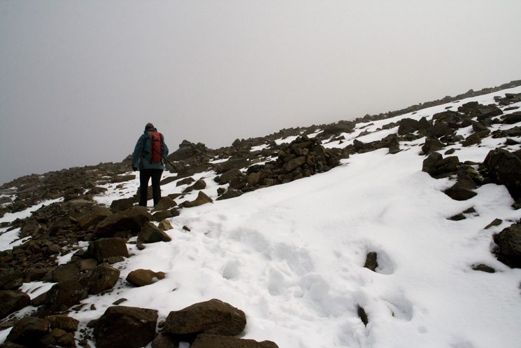 Heading up Scafell Pike
