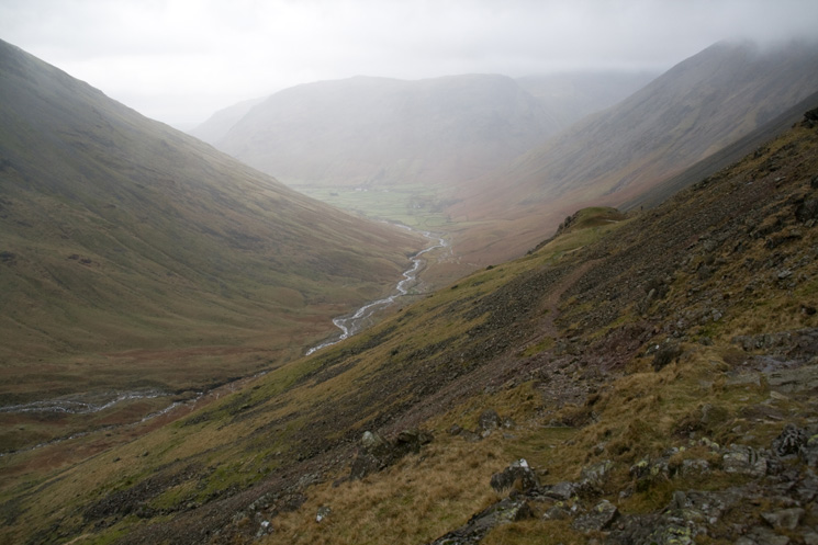 Lingmell Beck and Wasdale Head