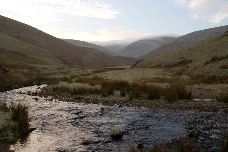 Looking south up the valley of Dale Beck from the ford