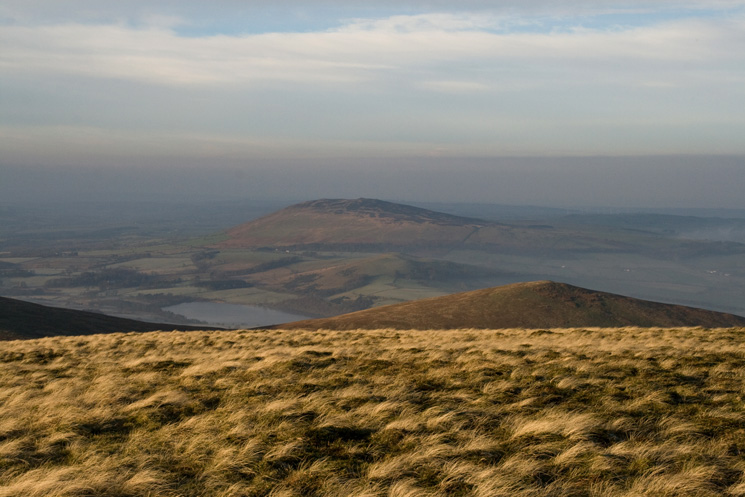 Looking over Over Water and Longlands Fell to Binsey from Brae Fell's summit