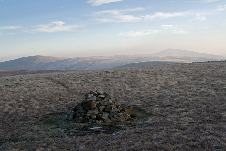 High Pike (left) and Carrock Fell (right) from Great Sca Fell's summit