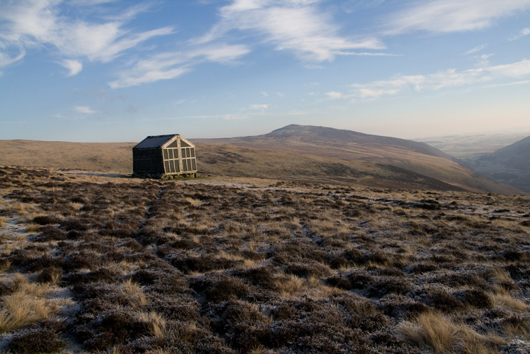Lingy Hut with Carrock Fell behind