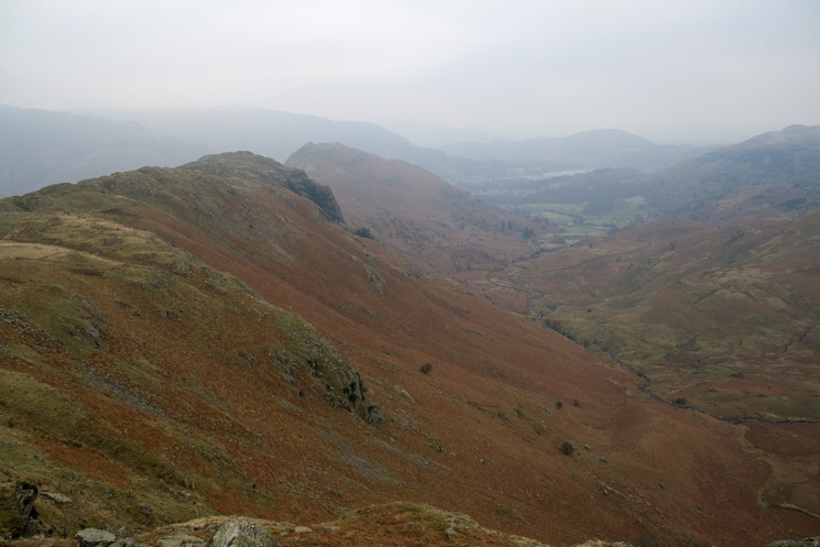 Looking back to Gibson Knott and Helm Crag from Pike of Carrs