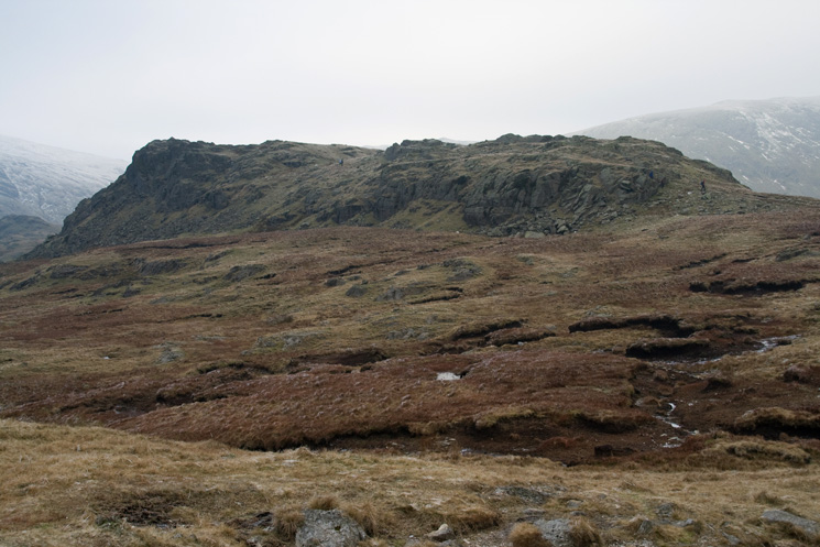 Looking across to Calf Crag's summit