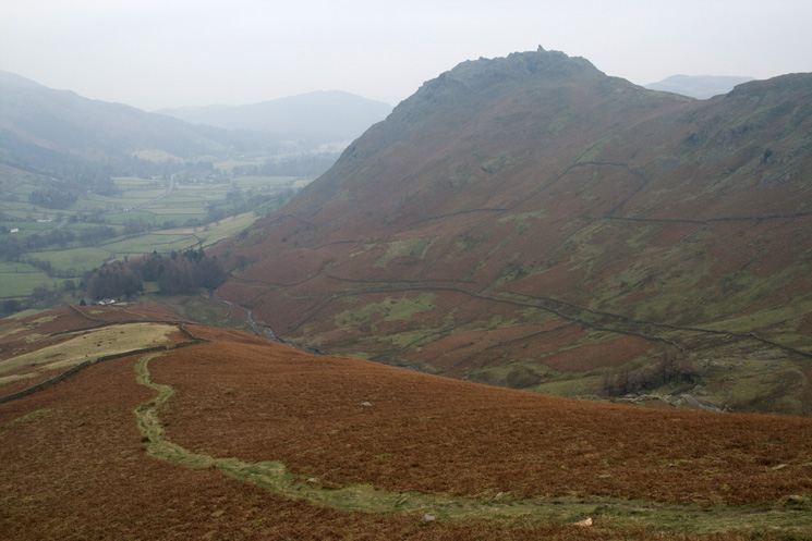 Helm Crag from lower down the ridge