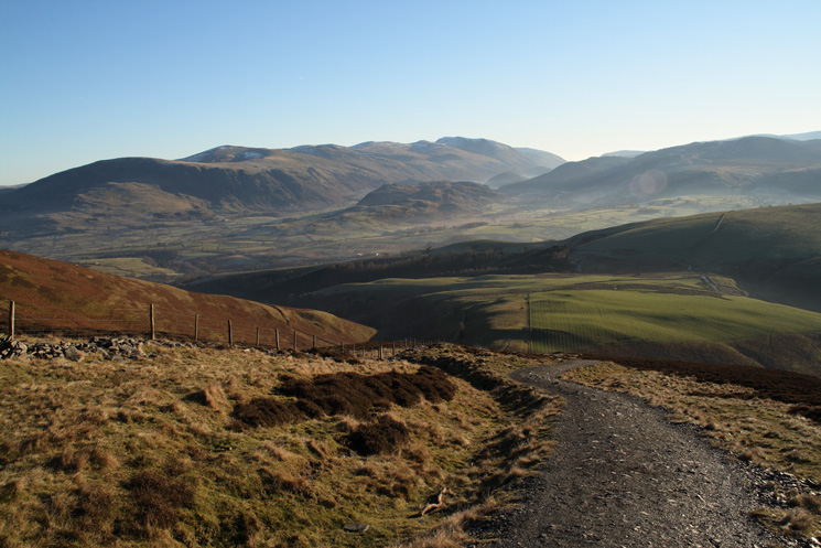 The Helvellyn range with High Rigg in front from the Jenkin Hill path