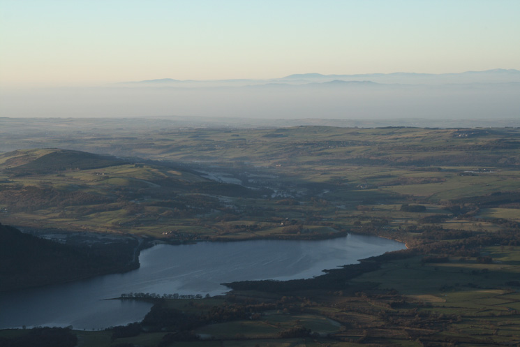 The north end of Bassenthwaite Lake from Skiddaw's summit