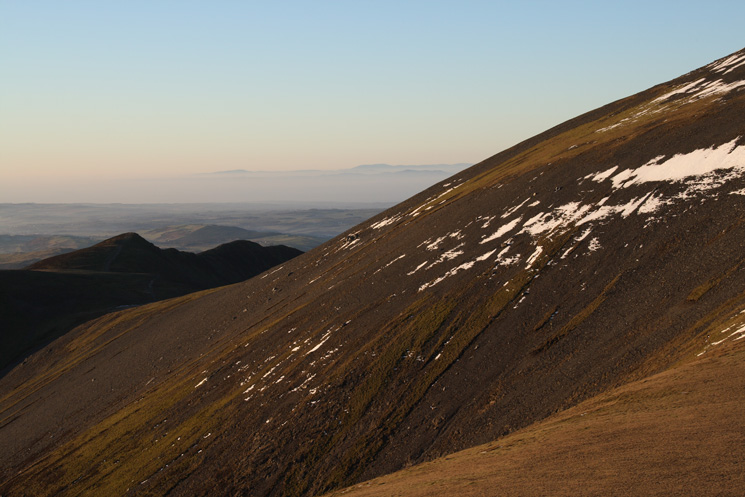 Longside Edge and Ullock Pike in shadow from Skiddaw Little Man