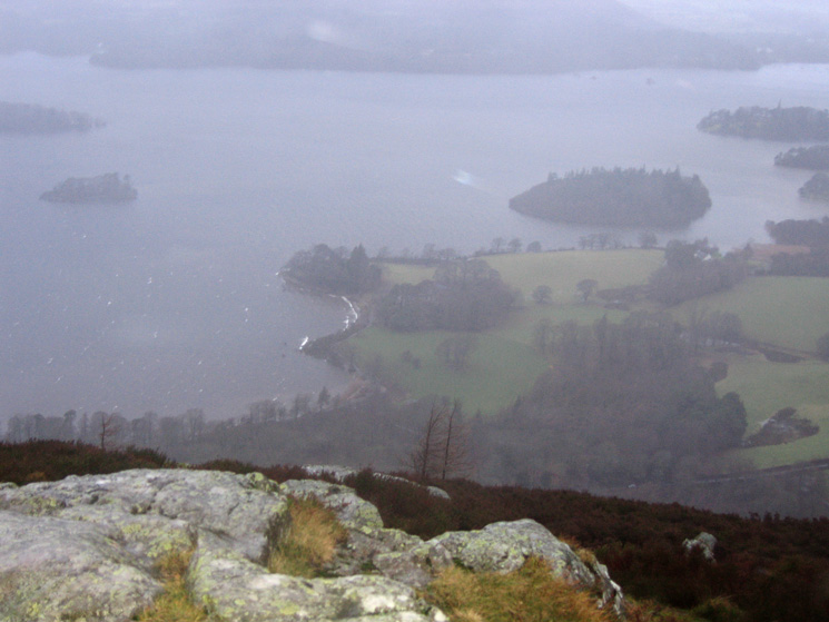 Looking down on Derwent Water from Walla Crag
