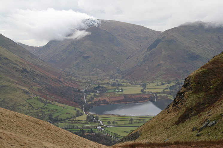 Kirkstone Pass, Middle Dodd with Red Screes behind, Caiston Glen, High Hartsop Dodd and Brothers Water in the valley