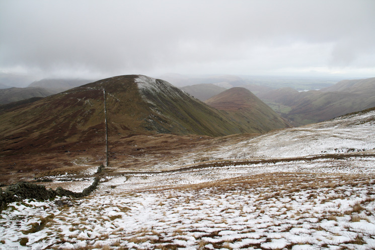 Rest Dodd and The Nab from the ascent of The Knott