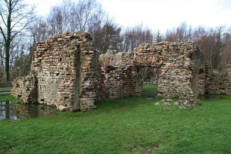The Roman Bath House at Ravenglass, now known as Walls Castle