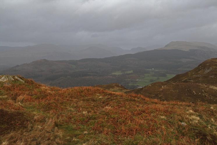 The Irton Pike - Whin Rigg ridge from Muncaster Fell's summit