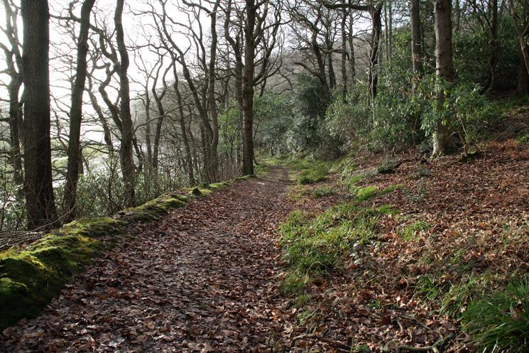 The Cumbria Coastal Way through the grounds of Muncaster Castle