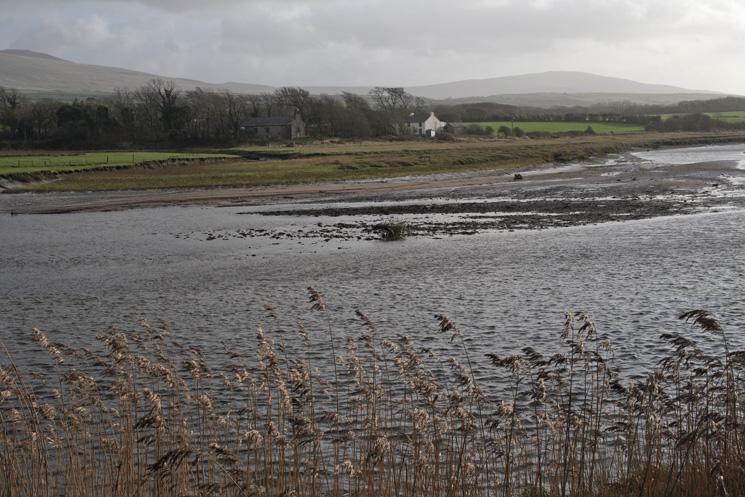 Looking across the River Esk to St John's Church, Hall Waberthwaite