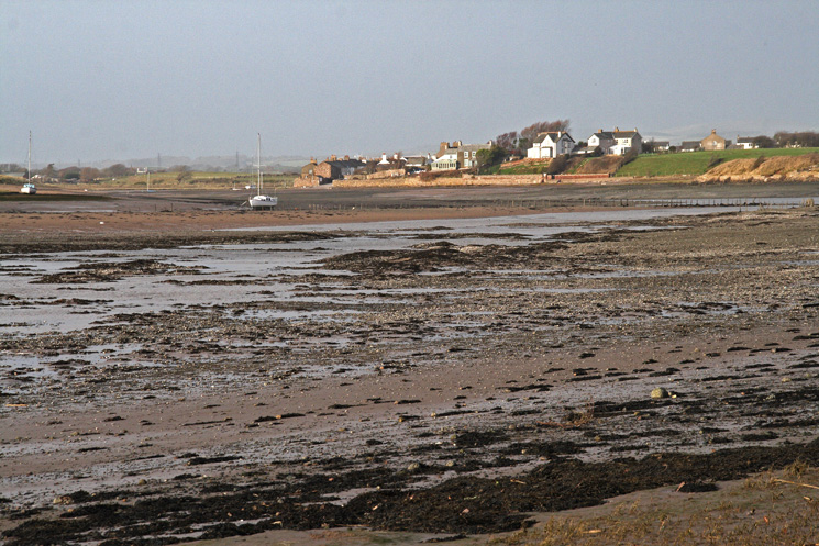Ravenglass and the tide is out