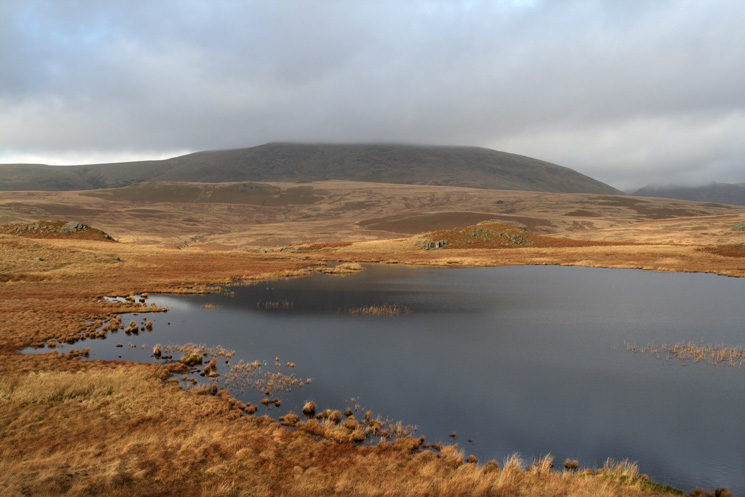 Illgill Head with its top in cloud from Eel Tarn