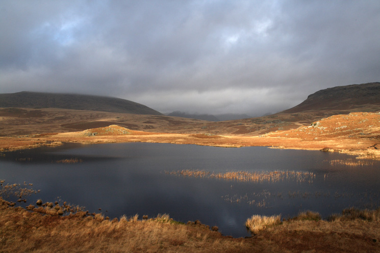 Eel Tarn. If the cloud was higher you could see Red Pike, Yewbarrow and Pillar through the gap