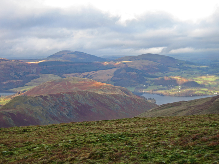 Looking over Steel Knotts and Hallin Fell to Great and Little Mell Fells from the Roman Road near Keasgill Head