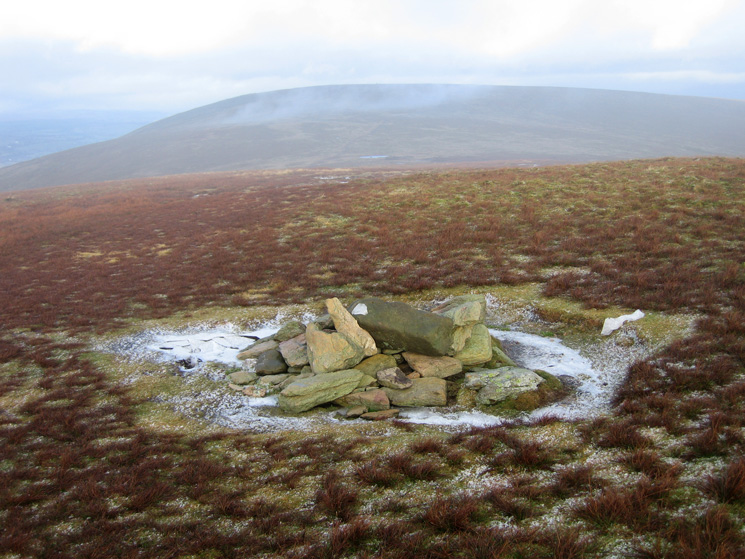 Looking north to Loadpot Hill from Wether Hill's summit cairn