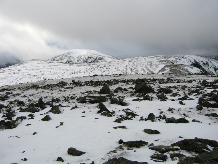 Kidsty Pike, High Street and Rampsgill Head from High Raise's summit