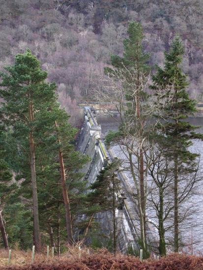 A glimpse of Haweswater's dam