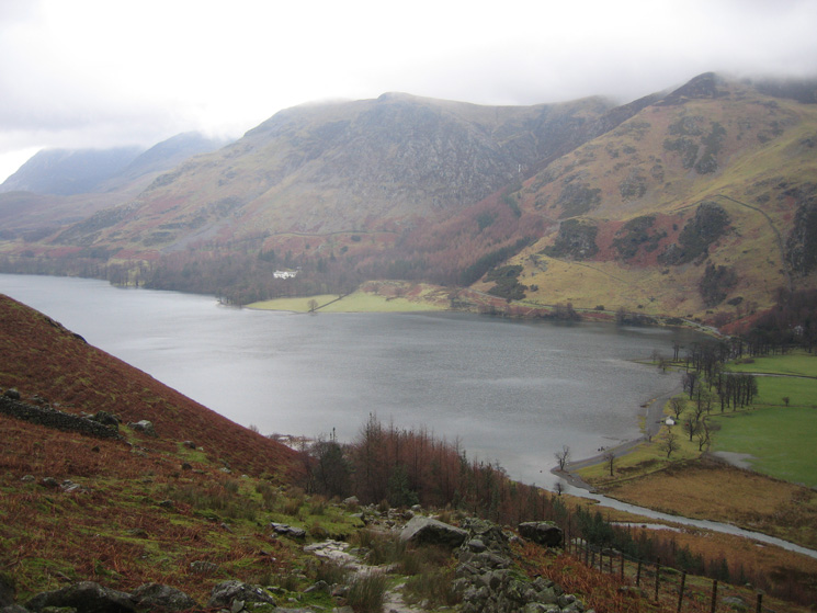 The head of Buttermere as I start the climb to Scarth Gap