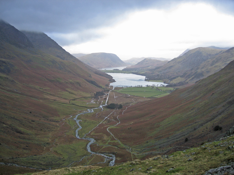 Warnscale Bottom with Buttermere and Crummock Water beyond