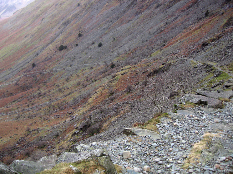 A section of the old mine track down to Warnscale Bottom