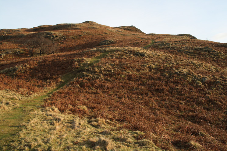 The path up Green Hill
