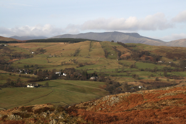 Looking over Dockray to Blencathra