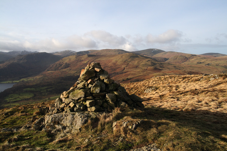 Looking towards the Dodds from Green Hill's summit cairn
