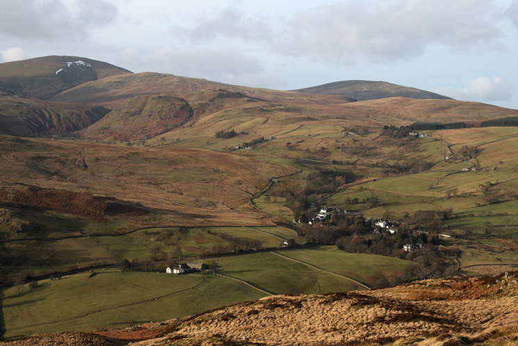 Great Dodd and Clough Head with Dockray below