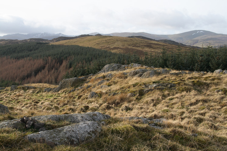 Looking back to Great Meldrum from Little Meldrum's summit