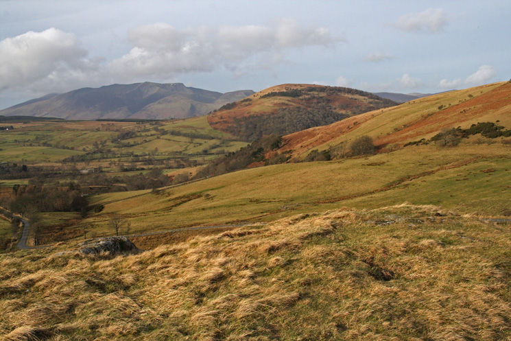 Blencathra and Great Mell Fell from Watermillock Fell's summit