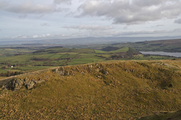 Looking across the Eden Valley to the North Pennines from Watermillock Fell