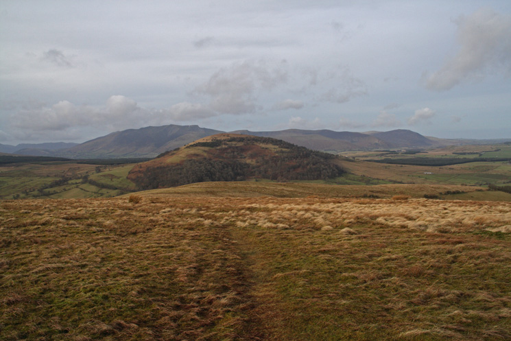 Great Mell Fell with the northern fells behind from Little Mell Fell