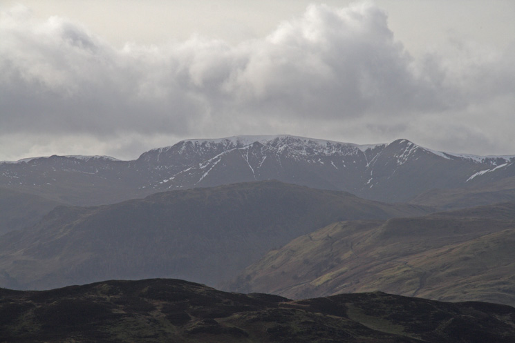Zooming in, Helvellyn from Little Mell Fell