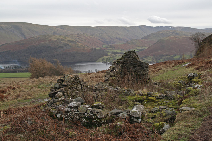 The remains of the shooting lodge